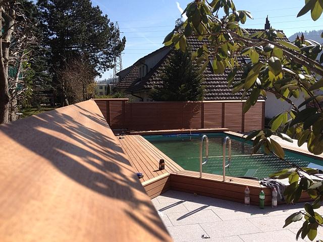 Pool Sichtschutz Liegefläche
